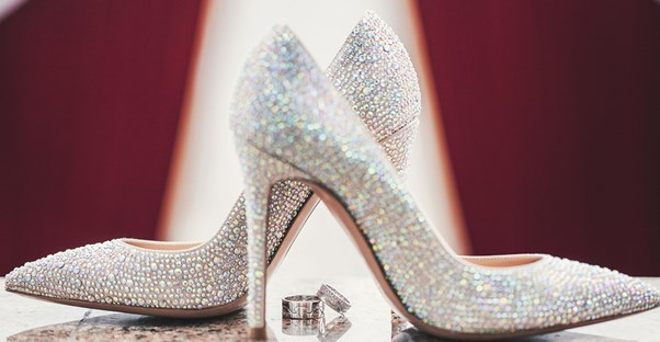 Standard Wedding Picture Of The Brides Shoes And Rings