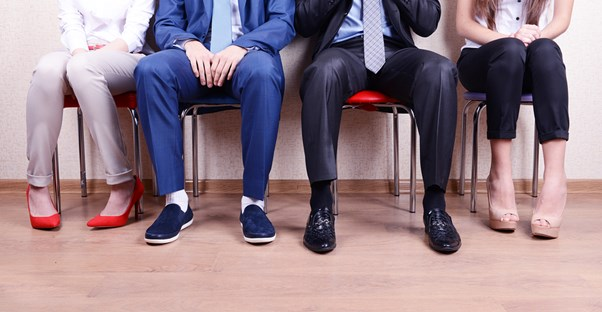 Potential interns wait for their chance to interview