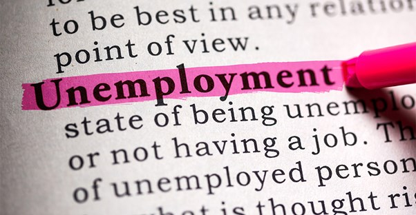 "The word ""Unemployment"" highlighted followed by a definition"