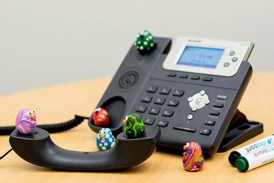 Germs on an office phone