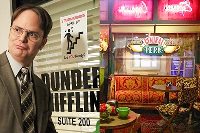dunder mifflin and central perk